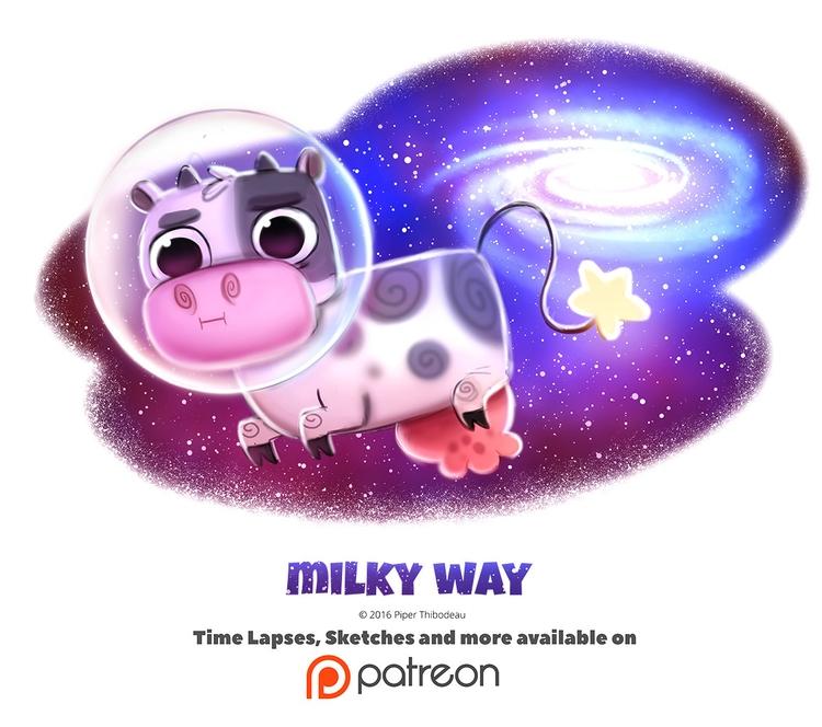 Day 1389. Milky - piperthibodeau | ello