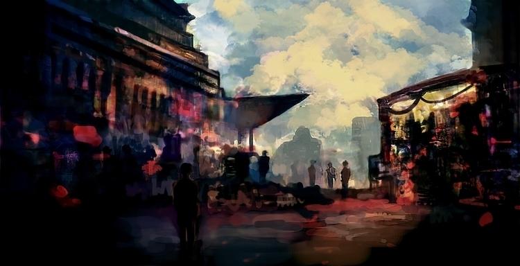 Bazaar Central - illustration, animation - dkrai-6247 | ello