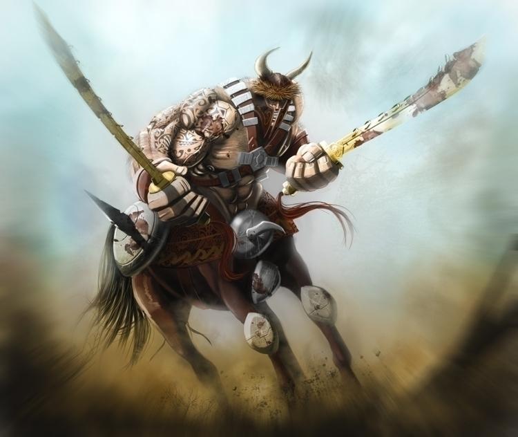 Centaur Khan Forgotten Myths - wacko_shirow | ello