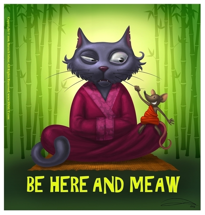 MEAW - meditation, meditate, cat - baruchinbar | ello
