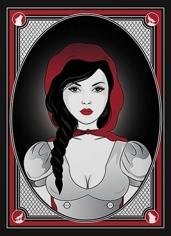 red, fairytale, grim, digital - hardknoxcreative   ello