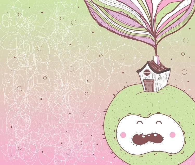 Lady Crabby Apple - illustration - queenlardcake   ello