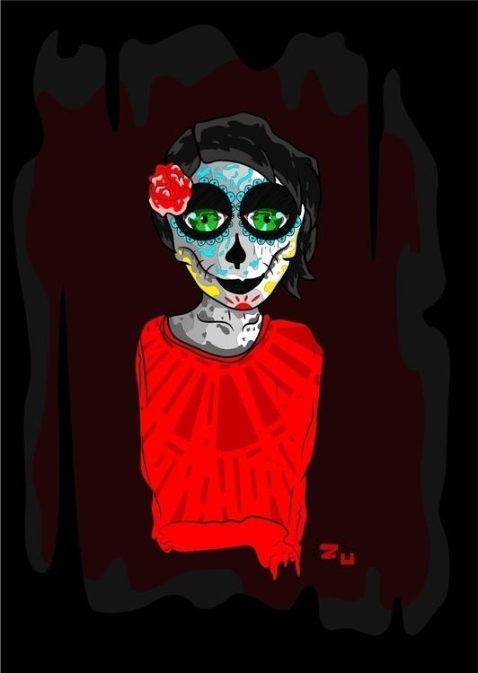 ... Catrina - #digitalillustration - kamanyacosta | ello