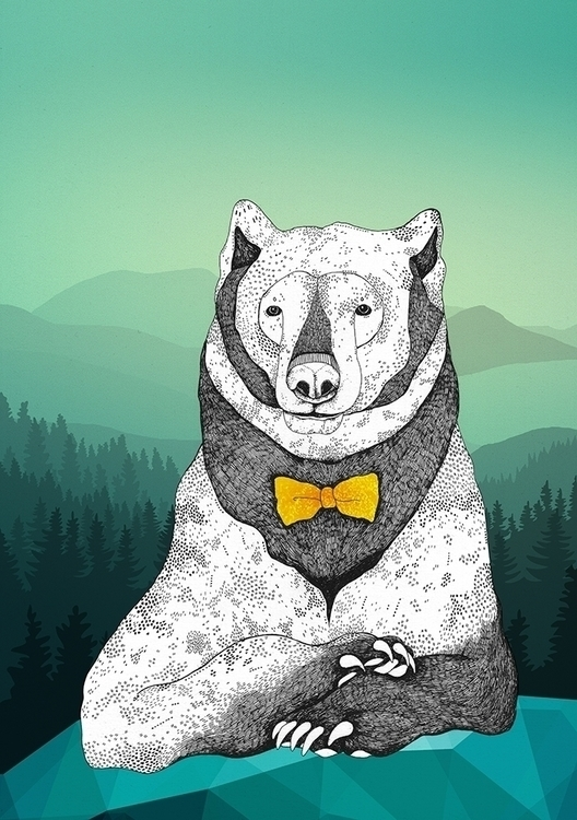Intelligent Bear - bear, nature - dianahope | ello