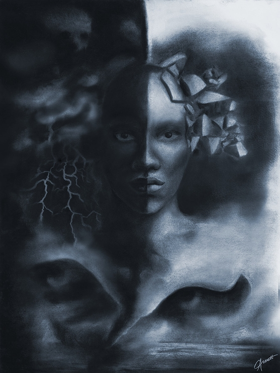 Storm drawn charcoal chalk - surreal - courtneyaverett | ello