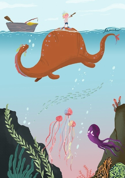 Courage - illustration, digitalart - leannepet | ello