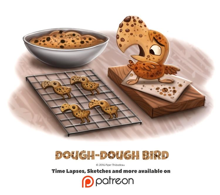 Day 1392. Dough-Dough Bird - piperthibodeau | ello