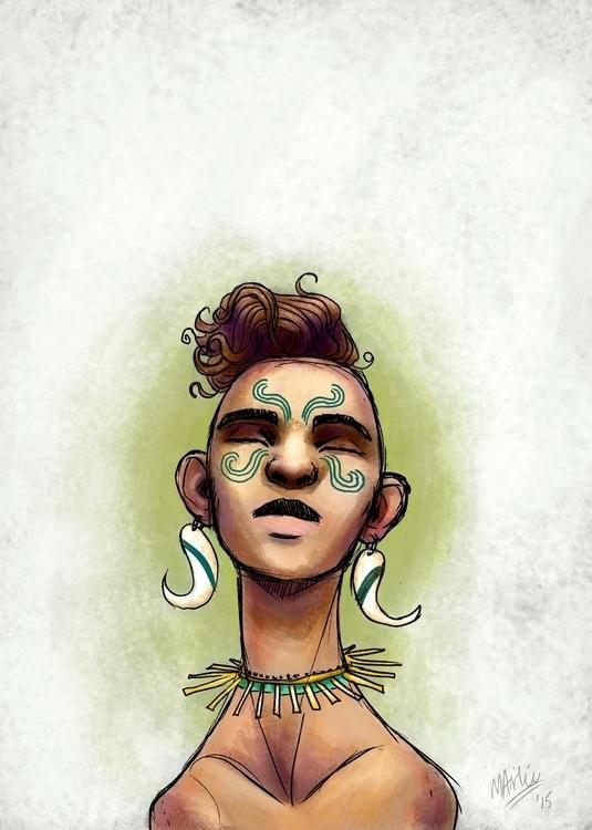 doodle bit - peace, portrait, illustration - atarial | ello