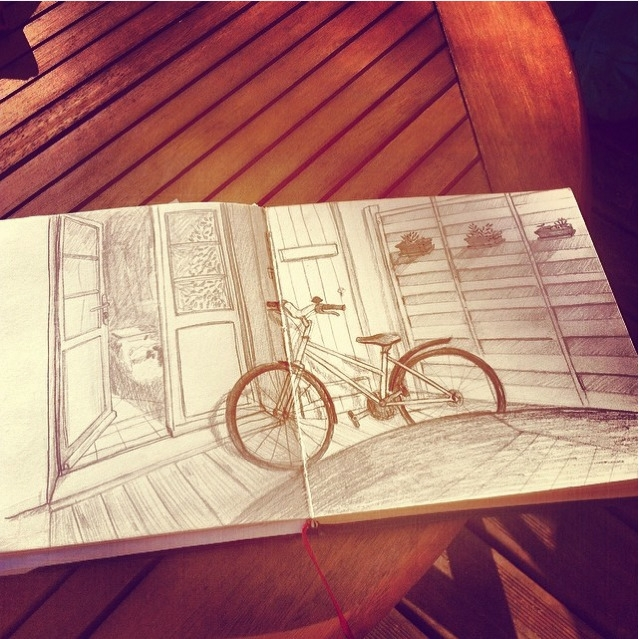 Terrasse - sketch, sketchbook, pencil - evapointpsd | ello