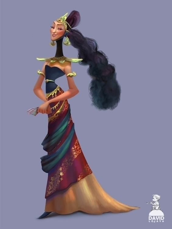 Madame - characterdesign, lady - david_adhinarya_lojaya   ello