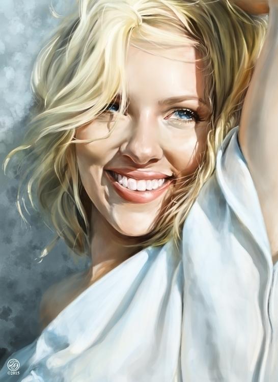 Scarlett Johansson Portrait - illustration - catherinesteuer | ello