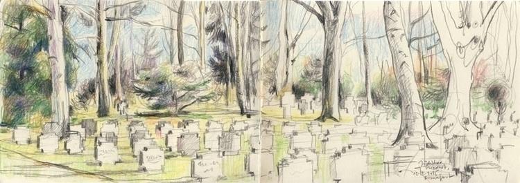 Frankfurt, Jewish graveyard. Pe - catilustre | ello