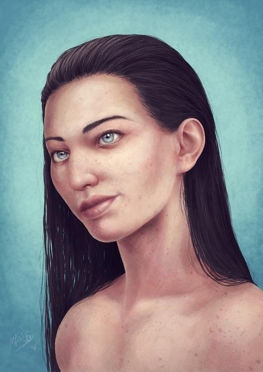 Portrait technique practice - female - atarial | ello