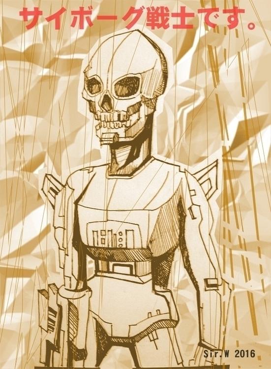 cyborg skeletor - illustration, painting - vitalic-1248 | ello