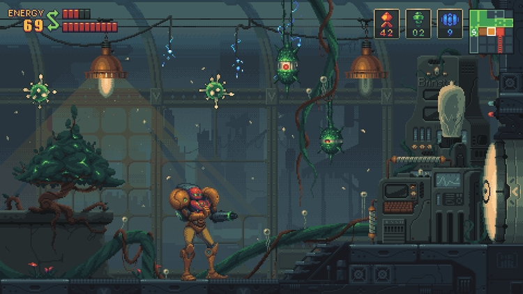Metroid Demake - illustration, pixelart - mr_hk_ | ello