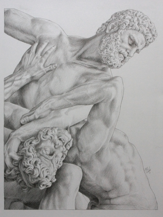 A3 drawing Heracles Nessus - heracles - atarial | ello