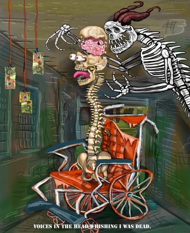 digital painting schizophrenia  - rigabow   ello
