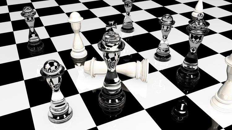 3D Chess - illustration, photography - aman_d_singh   ello