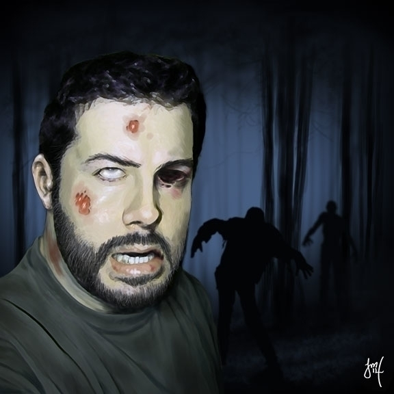 Zombie Selfie Speed Paint - illustration - jasonmartin-1263 | ello