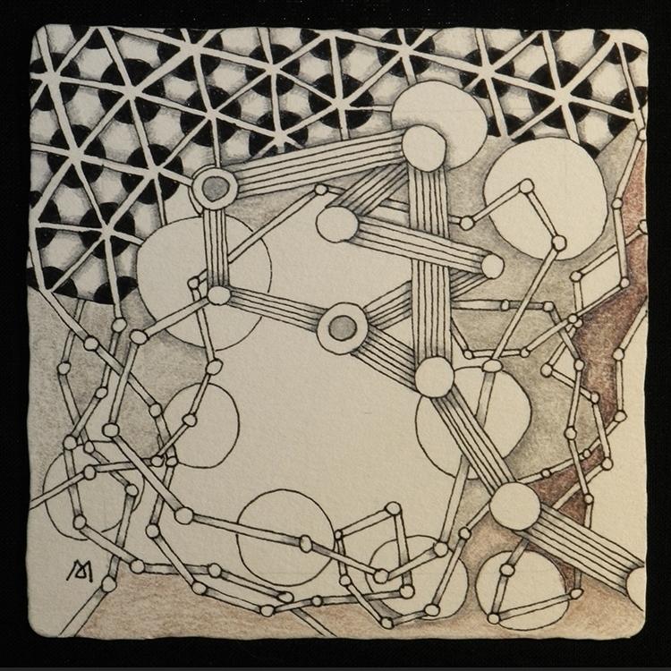 drawing, zentangle - marysargeant | ello