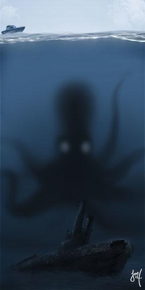 Kraken Speed Paint - illustration - jasonmartin-1263 | ello