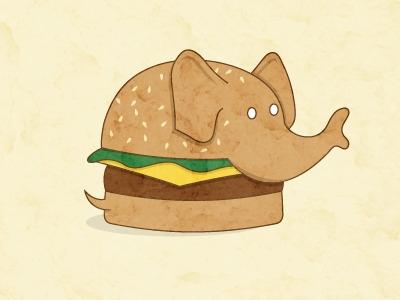 Surreal BBQ Series: Burgerphant - letymacarty | ello