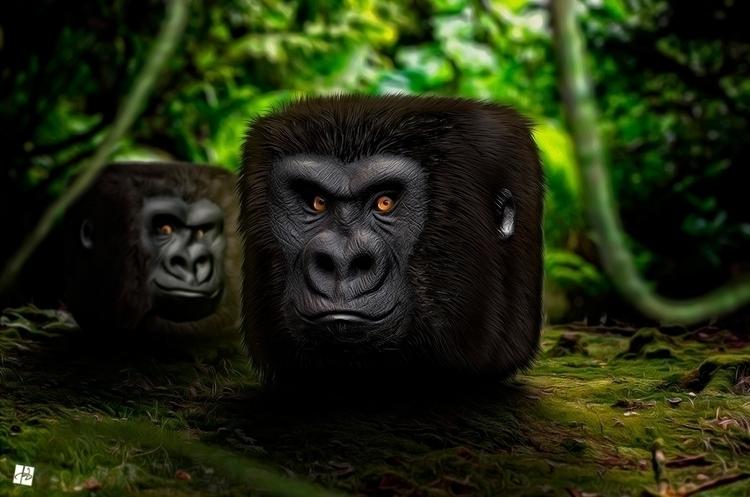 Gorilla 3D iOS icon - gorilla, gorillaz - tomjestic | ello