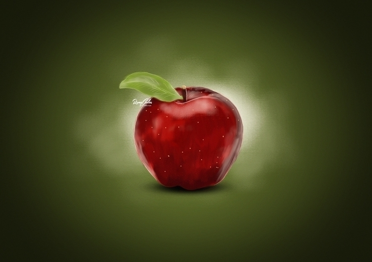 Digital Painting Apple - apple, digitalart - remycarlos | ello