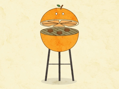 Surreal BBQ Series: Orange hung - letymacarty | ello