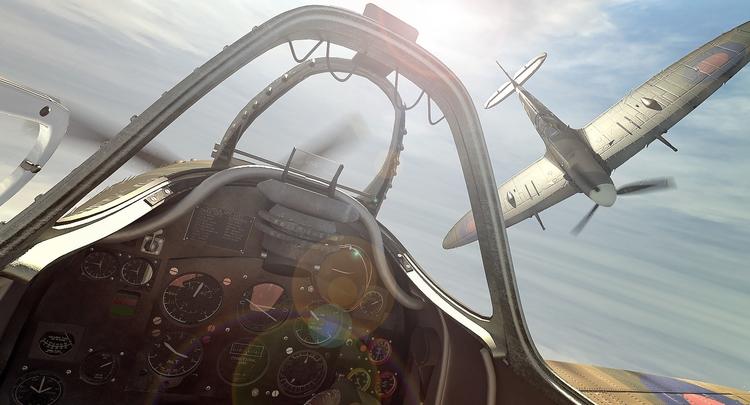 Duel Spitfire - illustration, 3d - remytrapp | ello