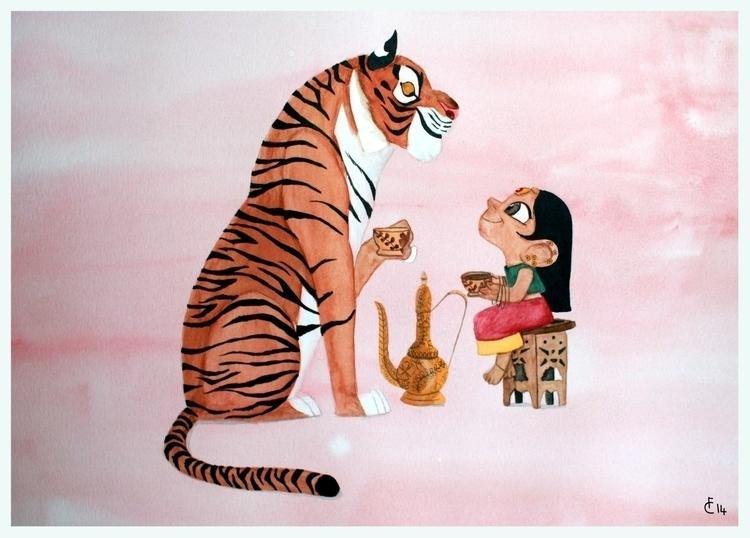 Tiger Tea - atigerfortea, illustration - finbarcoyle | ello