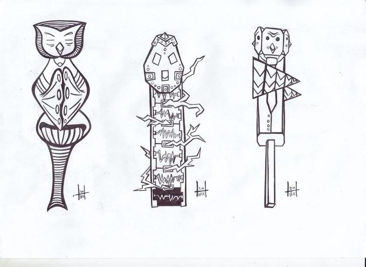 totems designs 23-25 - h3ml0ck, h3ml0cksketch - h3ml0ck | ello