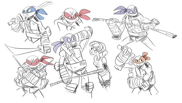 unwind work...drawing turtles - teenagemutantninjaturtles - drawandestroy | ello