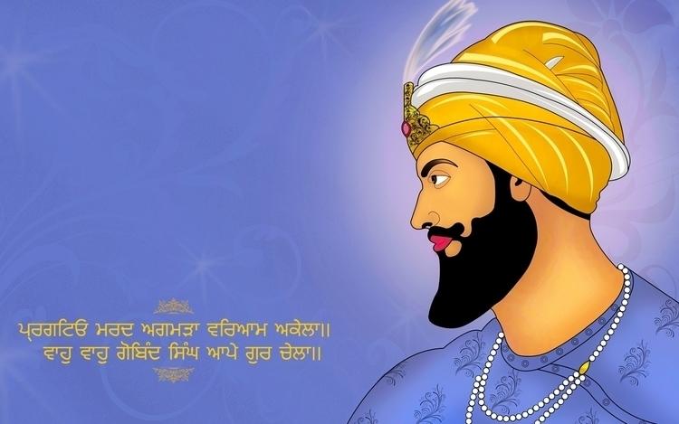 Shri Guru Gobind Singh Ji - illustration - aman_d_singh   ello