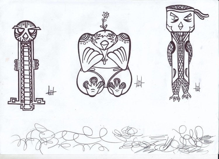 totems designs 5-7 - h3ml0ck, h3ml0cksketch - h3ml0ck | ello