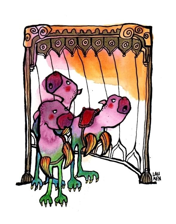 Batfinks Light - doodlesmudge, ink - theartoflauren | ello