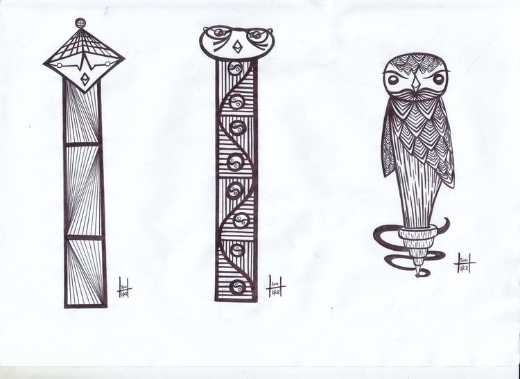 totems designs 2-4 - h3ml0ck, h3ml0cksketch - h3ml0ck | ello