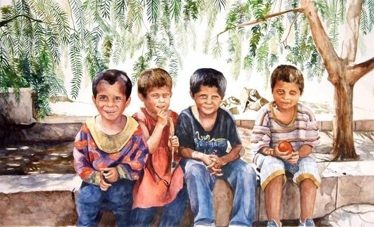 Special kids Watercolors paper - zaherbizri   ello
