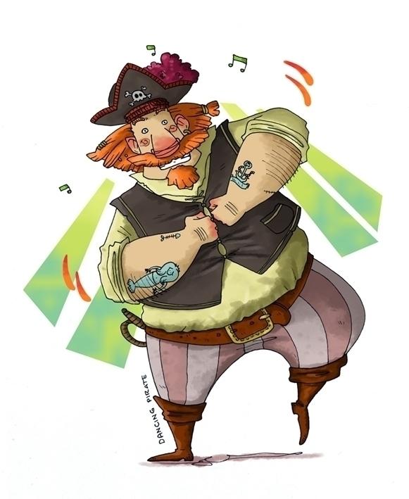 Dancing pirate - illustration, digitalart - madmoon-1352 | ello