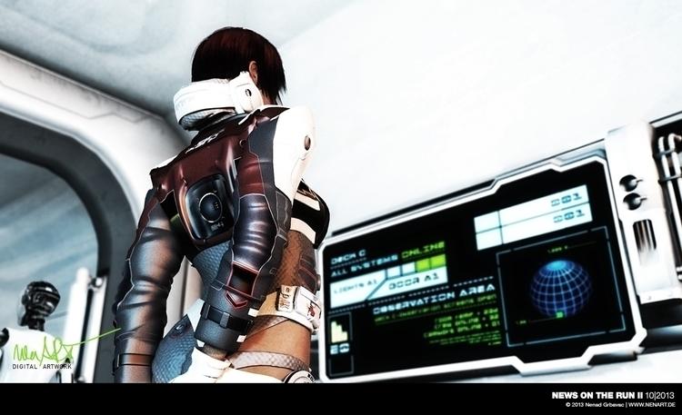 News Run II Posed DAZ3D Studio - nenart | ello