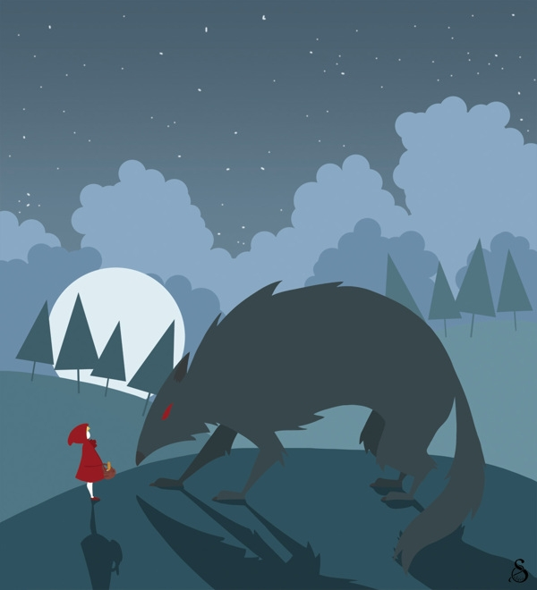 Red Riding Hood - Meeting - illustration - madmoon-1352 | ello