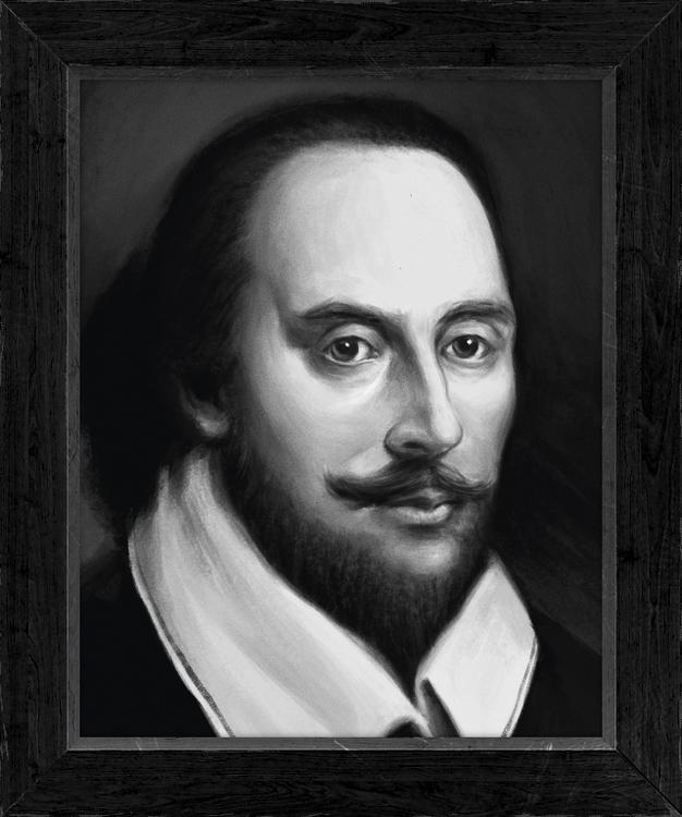 William Shakespeare Portrait cr - jakubcenkl | ello