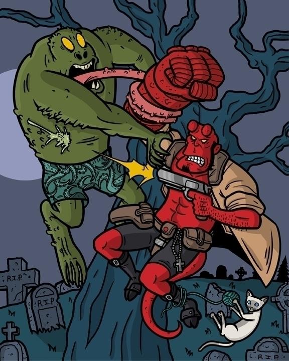 Hellboy - hellboy, darkhorsecomics - mattyleegross   ello