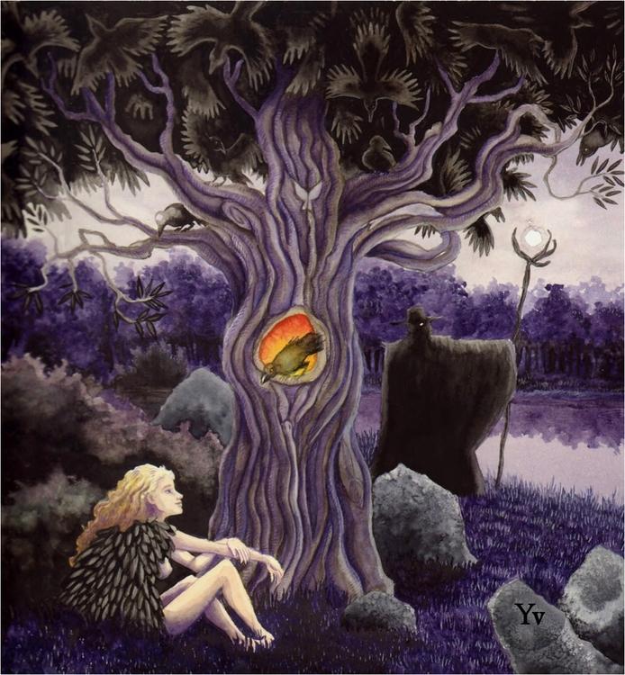 Crow Tree', Watercolors pencils - dutchpagan   ello
