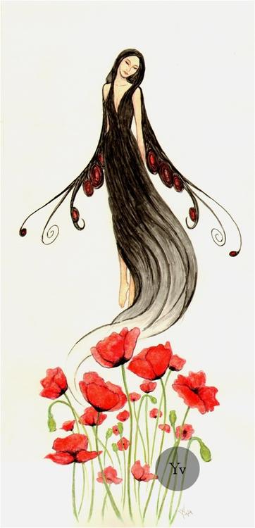 Sleep, watercolors paper - fairy - dutchpagan   ello