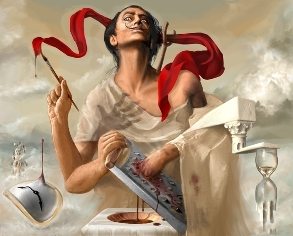 Salvador Dali, auto-sodomized I - castpixel | ello