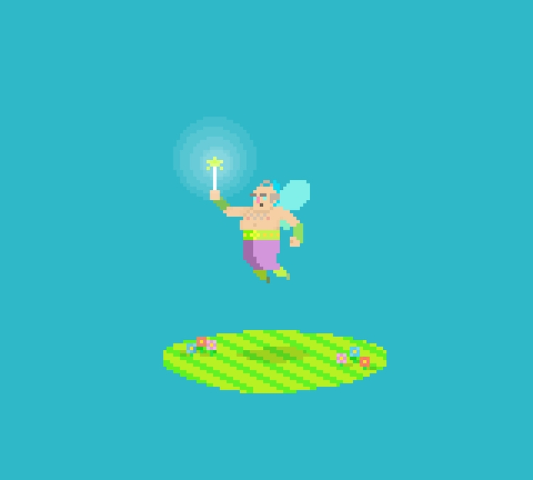 Fairy God Father - pixelart, gamedev - planckpixels   ello