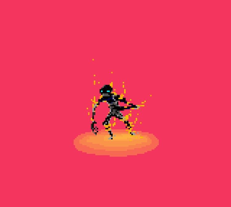 Fire Demon - pixelart, gamedev, conceptart - planckpixels | ello