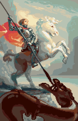 St George slaying chocolate dra - castpixel | ello