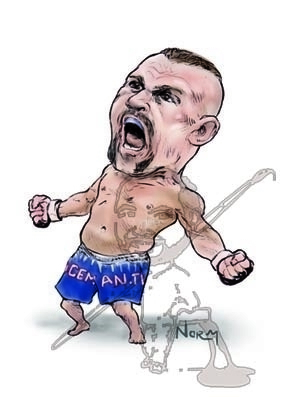 Chuck Iceman Liddell caricature - waivisuals | ello